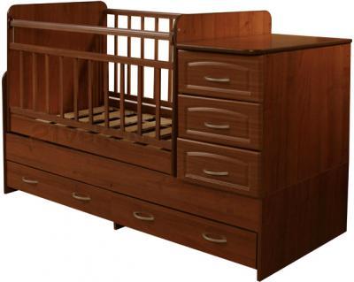 Детская кровать-трансформер Антел Ульяна-У (Орех) - общий вид