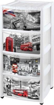 Комод пластиковый Пластишка Лондон 4312956 (4 ящика) - общий вид