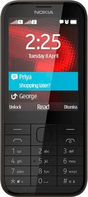 Мобильный телефон Nokia 225 Dual (черный) - общий вид