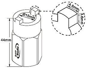 Съемник Toptul JEAJ0122 - схема