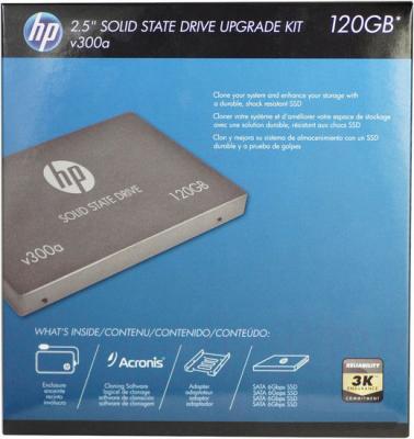 SSD диск HP v300a 120GB (SSD7SC120GCDA-HPKIT) - упаковка
