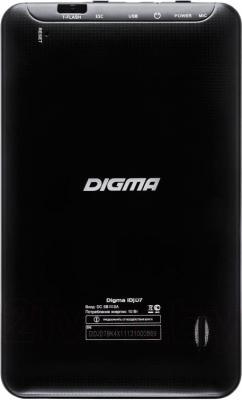 Планшет Digma IDJD 7n (Black) - вид сзади