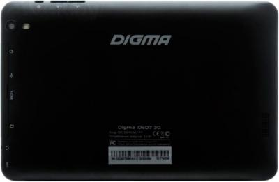 Планшет Digma iDsD7 3G (16GB, Black) - вид сзади