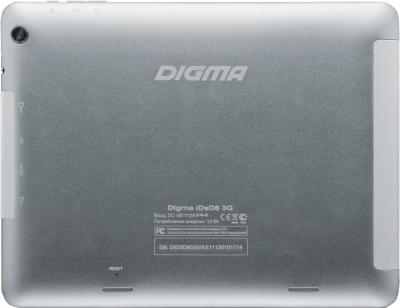 Планшет Digma iDsD8 3G (Aluminum) - вид сзади
