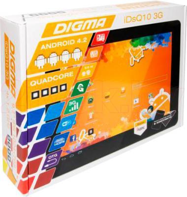 Планшет Digma IDsQ 10 3G (Black) - упаковка