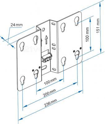 Кронштейн для телевизора Sven FS17-21 - габаритные размеры