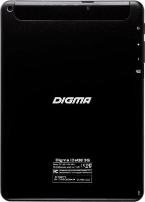 Планшет Digma iDsQ8 3G (Black) - вид сзади