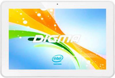 Планшет Digma Plane 10.1 3G (Silver-White) - общий вид