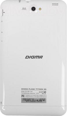 Планшет Digma Plane 7.0 3G (Silver-White) - вид сзади