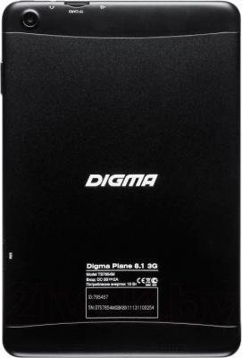 Планшет Digma Plane 8.1 3G (Black) - вид сзади