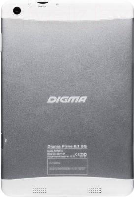 Планшет Digma Plane 8.1 3G (Silver-White) - вид сзади