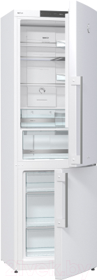 Холодильник с морозильником Gorenje NRK61JSY2W - в открытом виде