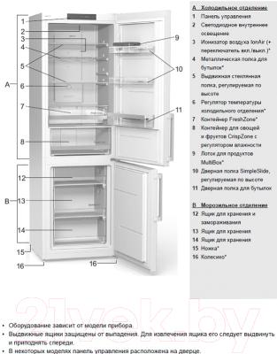 Холодильник с морозильником Gorenje NRK61JSY2W