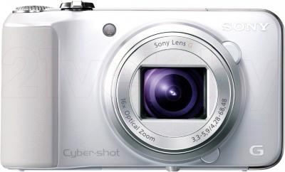 Компактный фотоаппарат Sony Cyber-shot DSC-HX10 (White) - вид спереди