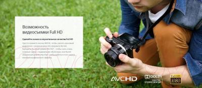 Беззеркальный фотоаппарат Sony ILCE-5000L (розовый)