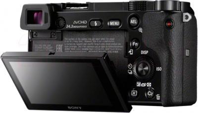 Беззеркальный фотоаппарат Sony ILCE-6000LB - вид сзади