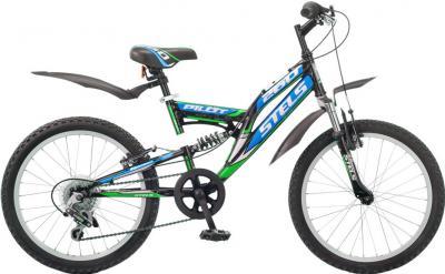 Велосипед Stels Pilot 260 (черно-сине-зеленый) - общий вид