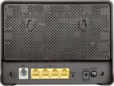 Беспроводной маршрутизатор D-Link DSL-2750U/B1A/T2A - вид сзади