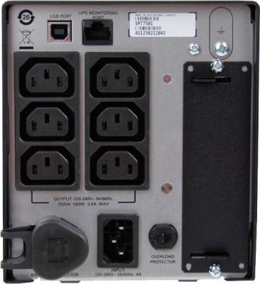 ИБП APC Smart-UPS 750VA LCD 230V (SMT750I) - вид сзади