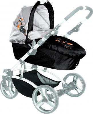 Детская универсальная коляска Lorelli Laguna (Black Squares) - люлька