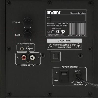 Мультимедиа акустика Sven Emotion (черный) - сабвуфер: вид сзади