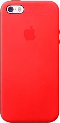 Накладной чехол Apple iPhone 5s Case MF046ZM/A (красный) - общий вид на телефоне
