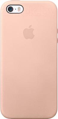 Накладной чехол Apple iPhone 5s Case MF042ZM/A (бежевый) - общий вид на телефоне