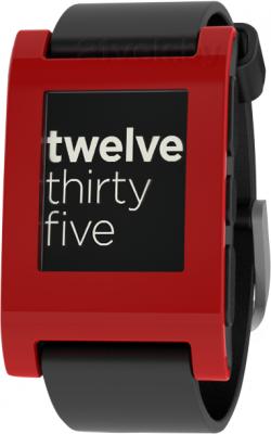 Интеллектуальные часы Pebble Technology Smartwatch (Black-Red) - общий вид