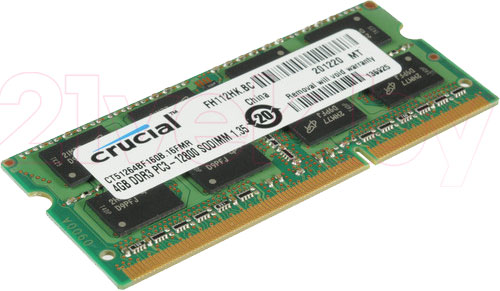 4GB DDR3 SO-DIMM PC3-12800 (CT51264BF160BJ) 21vek.by 651000.000
