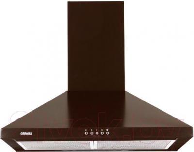 Вытяжка купольная Germes Piramida (60, коричневый) - вид спереди