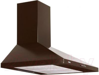 Вытяжка купольная Germes Piramida (60, коричневый) - вполоборота