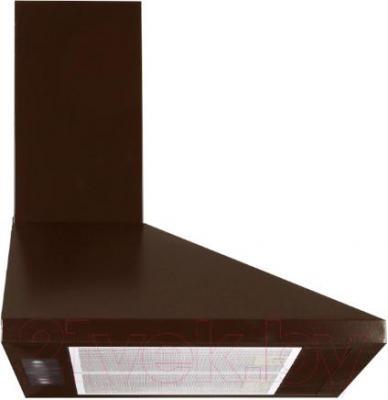 Вытяжка купольная Germes Piramida (60, коричневый) - вид сбоку