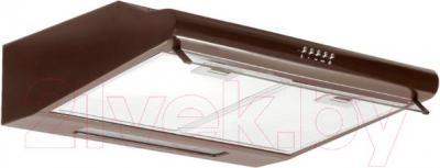Вытяжка плоская Germes Slim (60, коричневый) - вполоборота