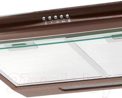 Вытяжка плоская Germes Slim (60, коричневый) - панель управления