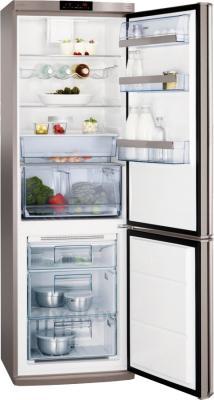 Холодильник с морозильником AEG S57340CNX0 - в открытом виде
