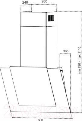 Вытяжка декоративная Grand HC62119F-В (с декором)