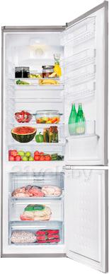 Холодильник с морозильником Beko CN333100X - в открытом виде