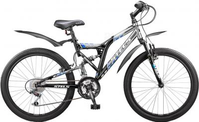 Велосипед Stels Mustang (Black-Blue) - общий вид