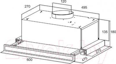 Вытяжка телескопическая Grand HB6102C-S(M) - технический чертеж