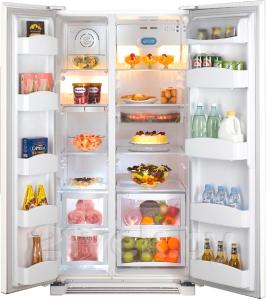 Холодильник с морозильником Daewoo FRS-U20BGW - в открытом виде