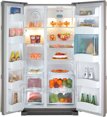 Холодильник с морозильником Daewoo FRS-U20HES - в открытом виде
