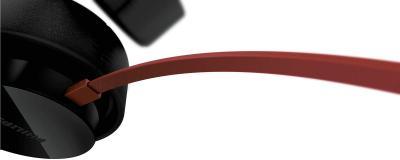 Наушники Philips SHL5200BK/10 - подключение кабеля