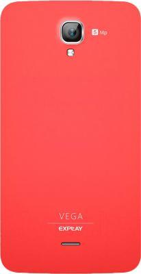 Смартфон Explay Vega (красный) - вид сзади