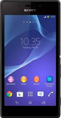 Смартфон Sony Xperia M2 Dual / D2302 (черный) - общий вид