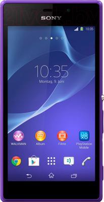 Смартфон Sony Xperia M2 Dual / D2302 (фиолетовый) - общий вид
