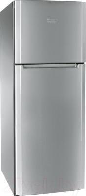 Холодильник с морозильником Hotpoint HTM 1161.2 X - общий вид