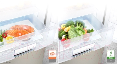Холодильник с морозильником LG GA-B489ZVCK