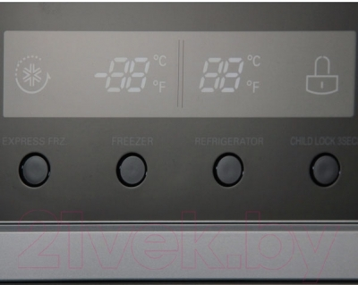 Холодильник с морозильником LG GC-B207GAQV