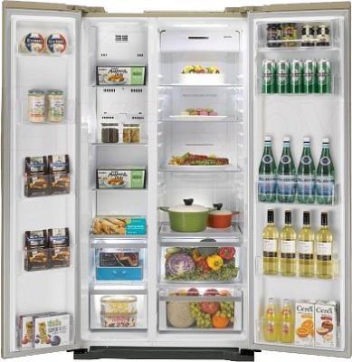 Холодильник с морозильником LG GC-B207GEQV - в открытом виде