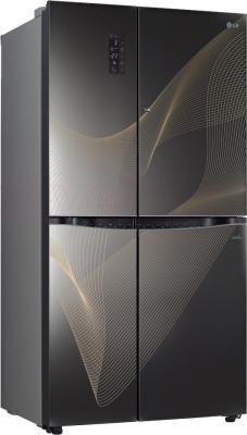 Холодильник с морозильником LG GR-M257SGKR - общий вид